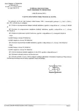 Uchwała Nr XVI.137.2016 Rady Miejskiej - BIP