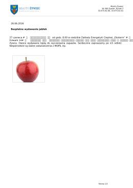 Bezpłatne wydawanie jabłek