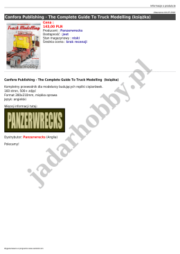 Panzerwrecks - The Complete Guide To Truck Modelling