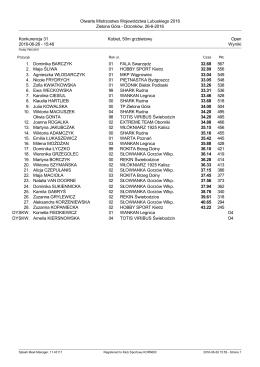 Drzonków, 26-6-2016 Konkurencja 31 Kobiet, 50m