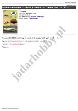 Taurusmodels D3501 1/35 Knagi do niemieckich czołgów