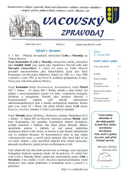 Vacovský zpravodaj č. 6/2016