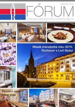 ahr fórum- červen 2016 - Asociace hotelů a restaurací České republiky