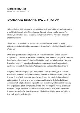 Podrobrá historie 124 – auto.cz