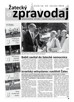 Žatecký - Město Žatec