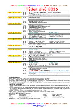 Program TD 2016