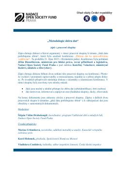 Metodologie sběru dat - Nadace Open Society Fund Praha