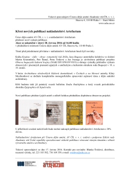 Pozvánka v PDF souboru zde. - Akademie věd České republiky