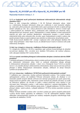Výzva 02_16_015 ESF pro VŠ a Výzva 02_16_016 ERDF pro VŠ