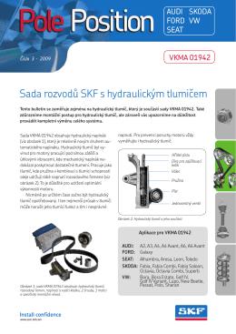 Sada rozvodů SKF s hydraulickým tlumičem