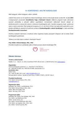 14. konference akutní kardiologie