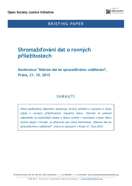 briefing paperu - Nadace Open Society Fund Praha