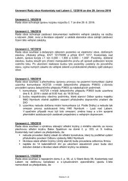 usnesení RO 12/2016 ze dne 29. 6. 2016