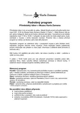 Podrobný program - Muzeum Karla Zemana