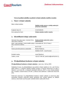 Zadávací dokumentace