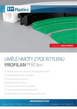 Produktový list - Profilan - Ferona Thyssen Plastics, s.r.o.