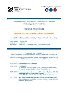 programu - Nadace Open Society Fund Praha