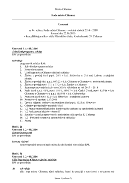 Usnesení RM 22.06.2016