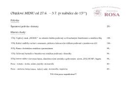 Obědové MENU od 27.6. – 3.7. (v nabídce do 15°°)