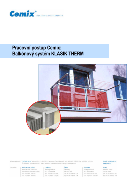 Balkónový systém KLASIK THERM