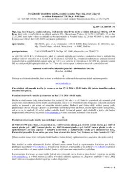 Exekutorský úřad Brno-město, soudní exekutor Mgr