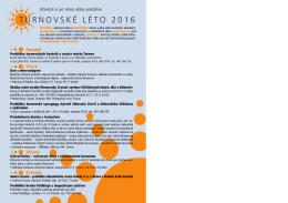 turnovské léto 2016 - brožura