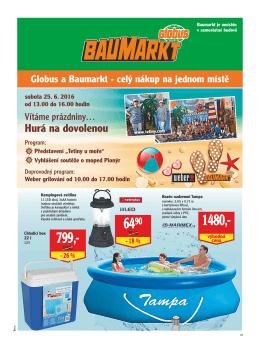 Hurá na dovolenou - Globus Baumarkt Brno
