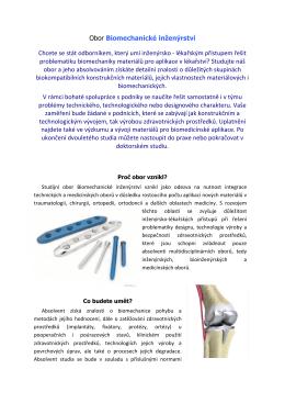 Obor Biomechanické inženýrství