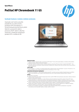 Počítač HP Chromebook 11 G5