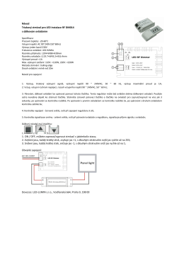 Návod - LED-LUMIN s.r.o.