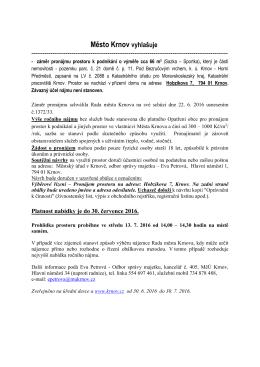 Městský úřad v Krnově - Odbor správy majetku města