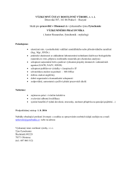 Junior Researcher, fytochemik - mykolog