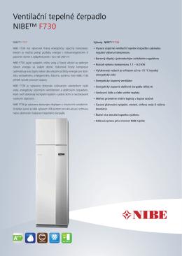 NIBE F730 - Produktová karta