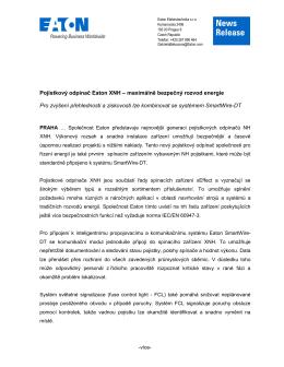 News Release - Eaton Elektrotechnika sro