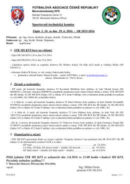 Zápis STK MS KFS č.34