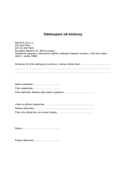 Odstoupení od smlouvy NAVETA e-shop