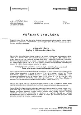 Územní plán Otín - Jihlava