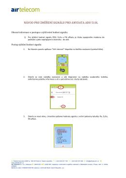 návod pro změření signálu pro anydata adu 510l