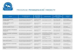 program pedagogické fakulty