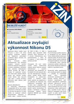 Aktualizace zvyšující výkonnost Nikonu D5