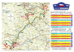 Celková Mapa - Rally Bohemia 2016