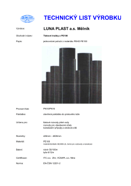 TL PE100 - LUNA PLAST as