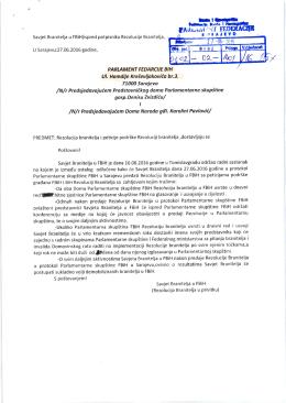 podnosilac: Savjet branitelja u Federaciji BiH