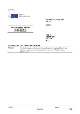 8389/16 JS/mil DGG 2B Protokol o izmjeni uz Sporazum između