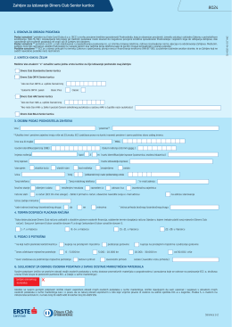PDF zahtjev za izdavanje Diners Club Senior kartice