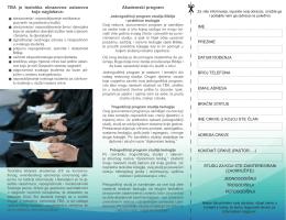 Akademski program TBA je teološka obrazovna ustanova koja