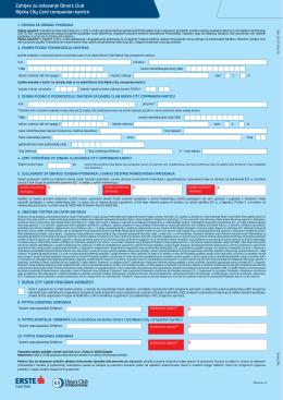 zahtjev za izdavanje kartice