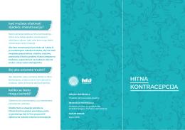 Edukativni letak za korisnice hitne kontracepcije