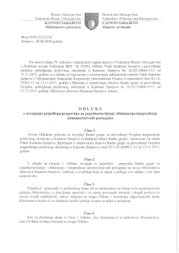 Preuzmi - Ministarstvo zdravstva Kantona Sarajevo