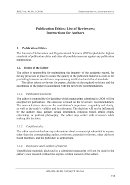 JIOS Vol40No1.indd - Journal of Information and Organizational